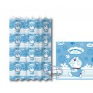 Doraemon Bath Shower Curtain with rings bathroom household Q6