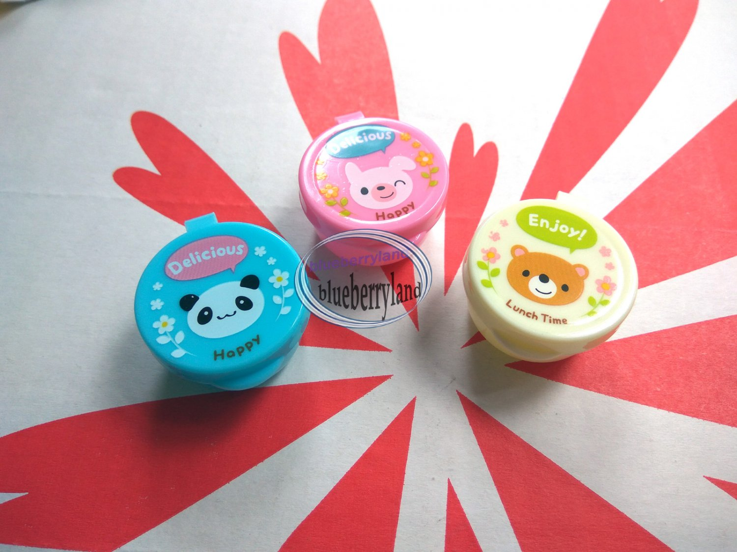 3 Pcs Bento Animal Sauce Cups cup Case Accessories lunch