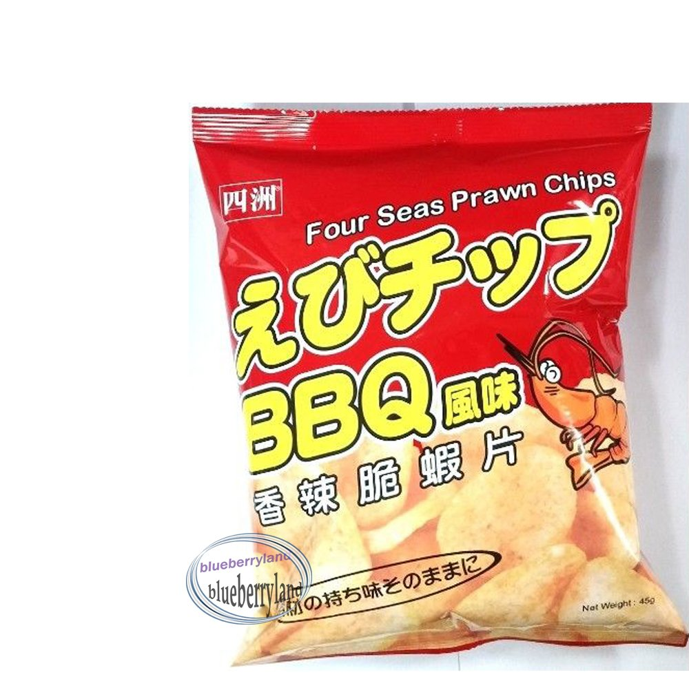 Four Seas BBQ Prawn Chips Snack Food for Party Gifts Gathering games snacks