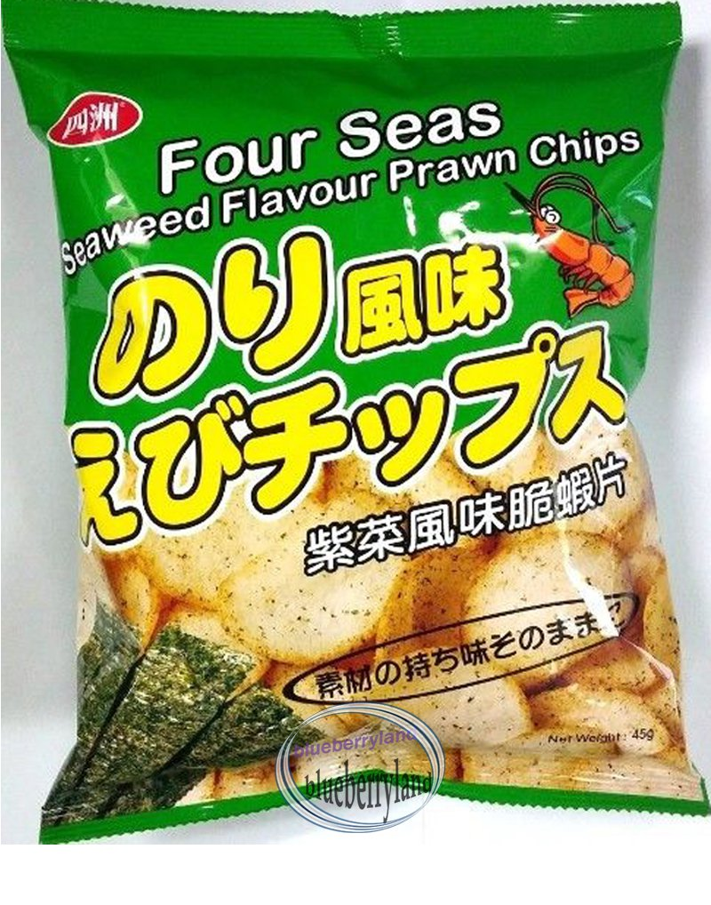 Four Seas Seaweed flavor Prawn Chips Snack Food for Party Gifts Gathering games snacks