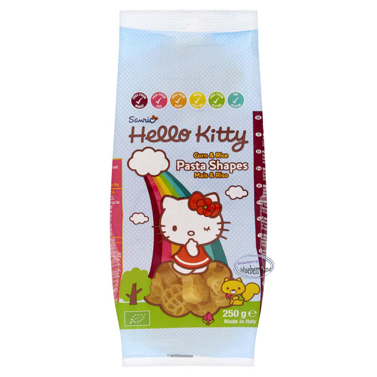 Sanrio Hello Kitty Corn and Rice Pasta Shapes 250g food home kitchen