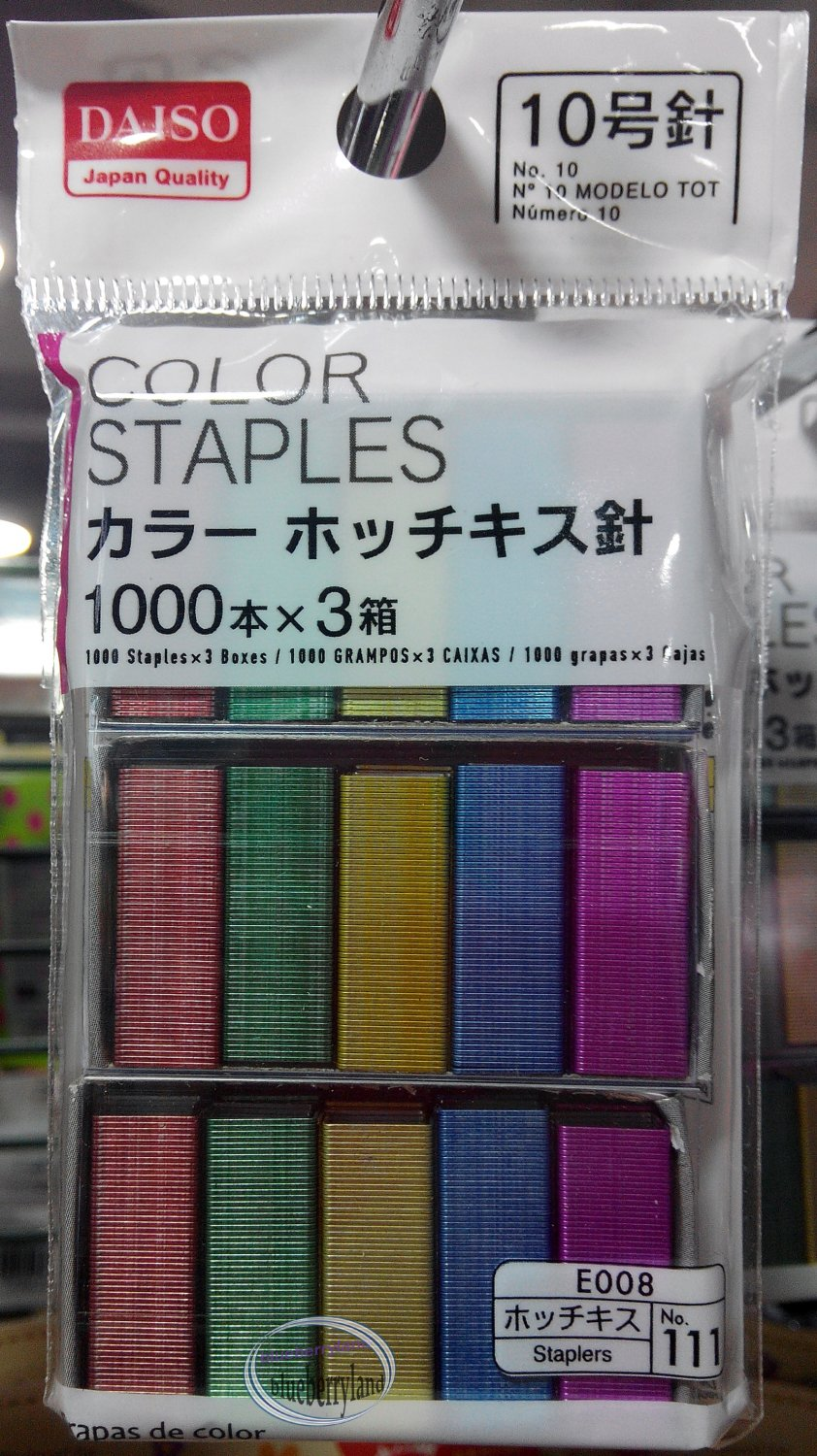Japan Quality Size No.10 Color Staples 1000 staples x 3 boxes colorful stapler staplers
