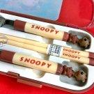 Peanuts Snoopy Fork Spoon Chopstick set cutlery bento B2