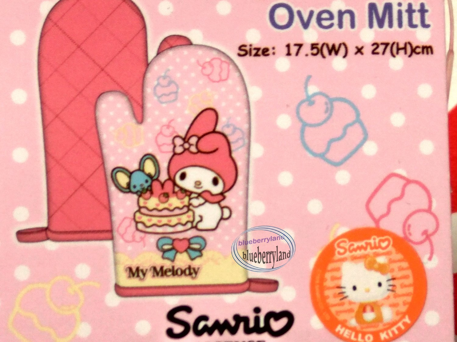 Sanrio My Melody Oven Mitt for Adult kitchen cooking apple Q6