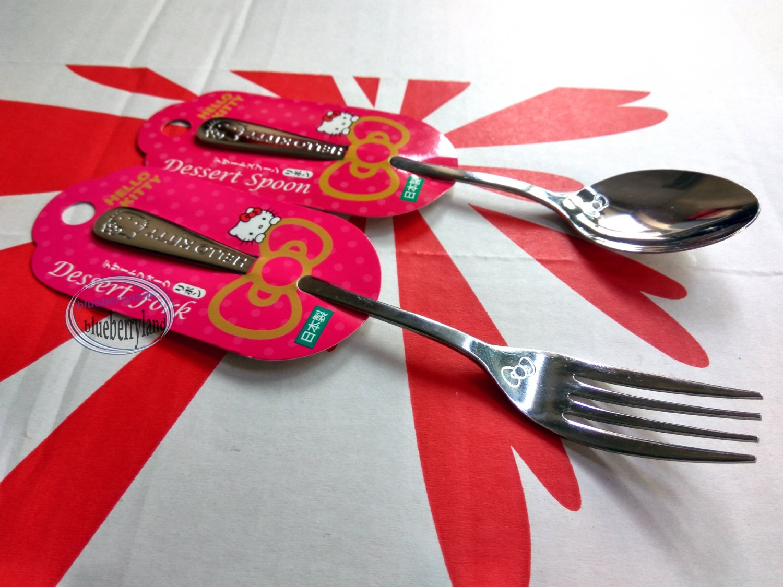 Japan Sanrio Hello Kitty Spoon Fork set kitchen Cutlery home