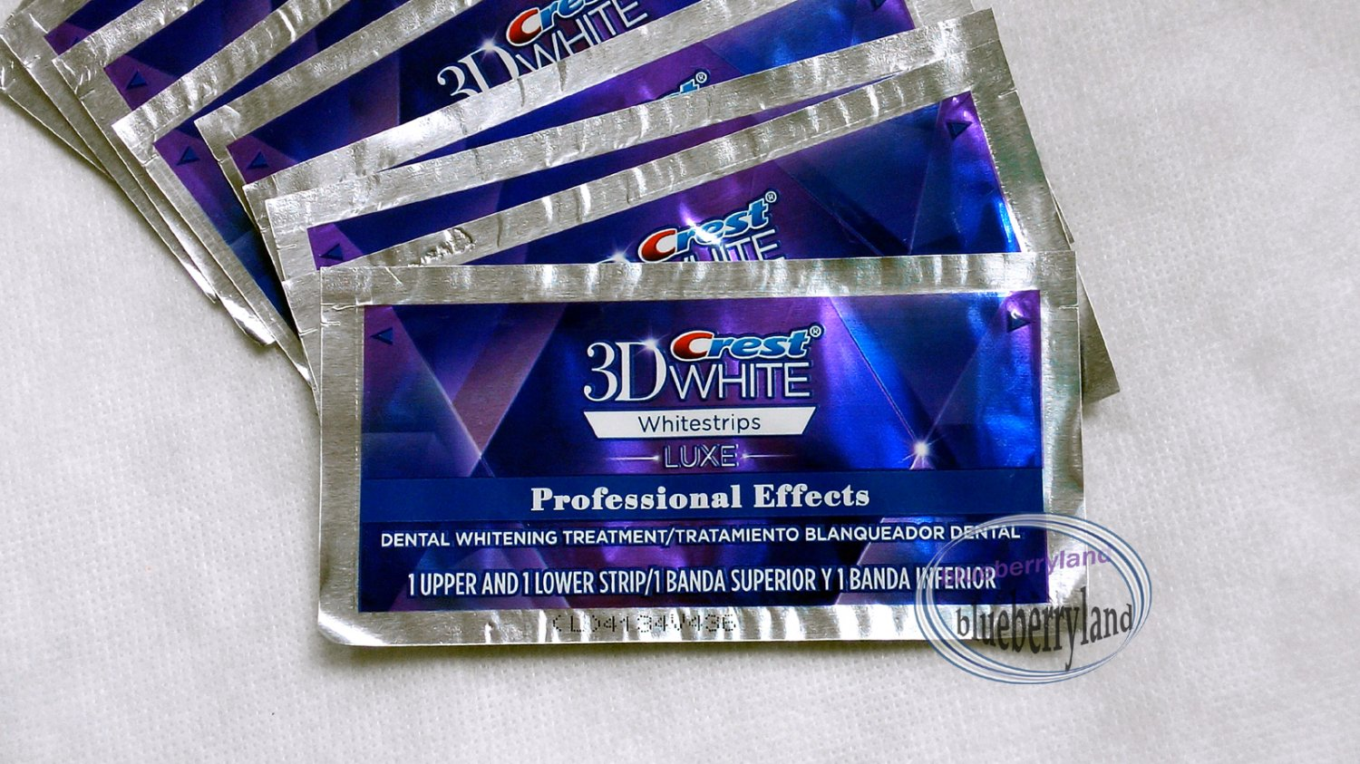 Crest 3D WHITE Whitestrips LUXE Professional Effects Teeth Whitening Power 10 Strip 5 Pouch