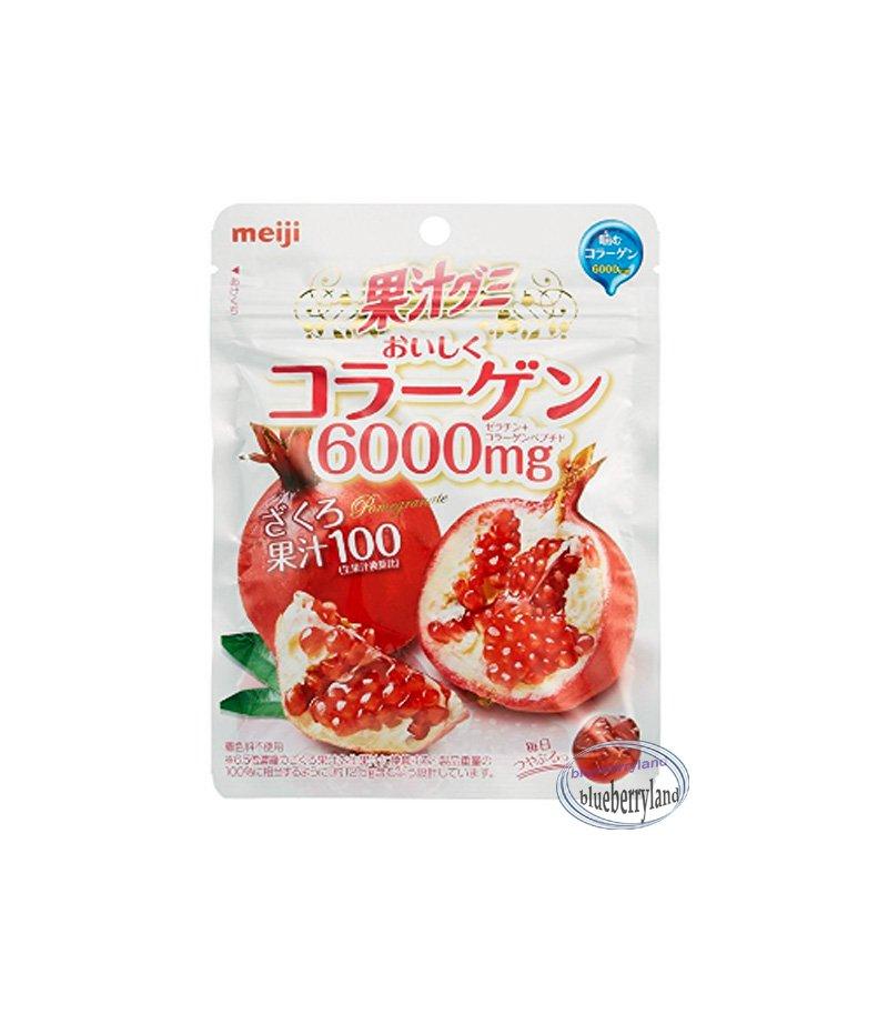 Japan Meiji Pomegranate Flavor Fruit Juice Gummy Collagen sweet snack candy gummy