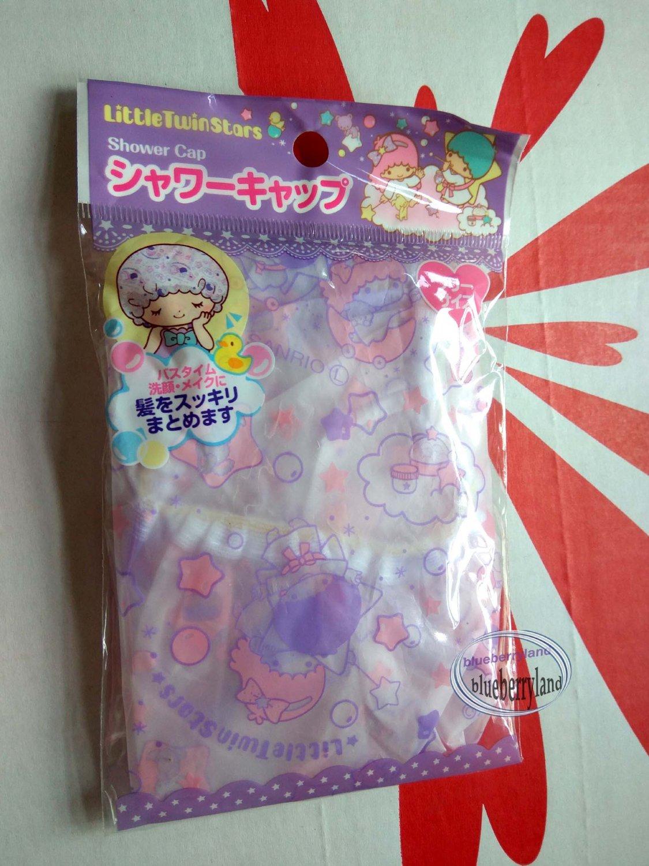 Japan Sanrio LITTLE TWIN STARS Shower cap hat for adult children bathroom bath accessories ladies