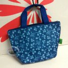 Lunch Box Cooler Warmer Flower Bag blue Food Container work school A1