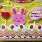 Candles Heart Rabbit HAPPY BIRTHDAY Candle set