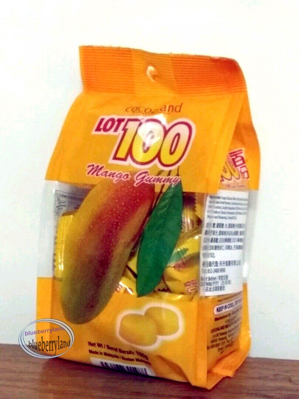 Cocoaland Lot 100 Mango Gummy Candy 150g snack