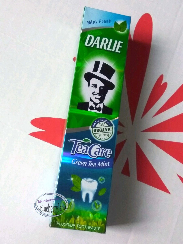 DARLIE Tea Care Organic GREEN TEA MINT Fluoride Toothpaste Teeth Care 2x 160g