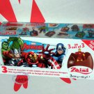 Zaini Marvel the Avengers Chocolate Surprise 3 Eggs With Toy Figure or Charm Inside
