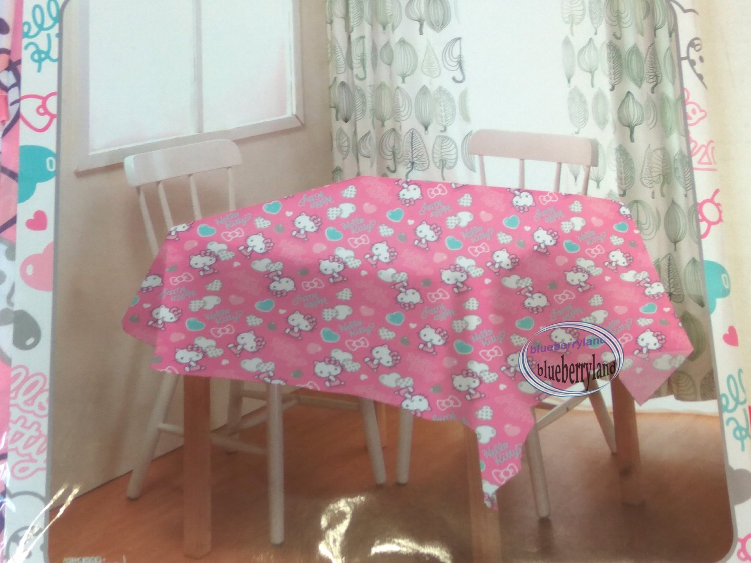 Sanrio HELLO KITTY Table Cloth dining table kitchen 54 x 54 inches