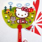 Sanrio Hello Kitty Plastic Hand Fan with plastic handle outdoor ladies girls