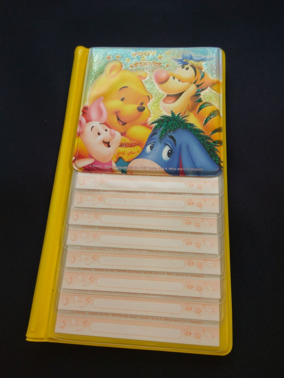 Disney Winnie the Pooh Card holders office name cards plastic case cover phone list ladies