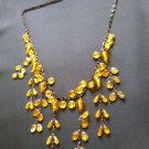 Fashion Dangling Yellow Beads Necklace ladies women girls C