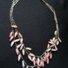 Fashion Dangling Pink Beads Necklace ladies women girls D