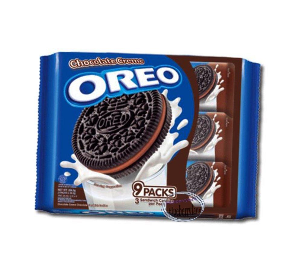 Oreo Chocolate Cream flavor Sandwich cookie Biscuit packs sweets treats snacks