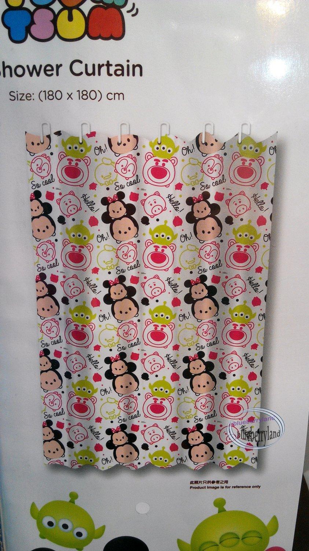 Disney TSUM TSUM Mickey Mouse SHOWER CURTAIN bathroom accessories ring household Q17