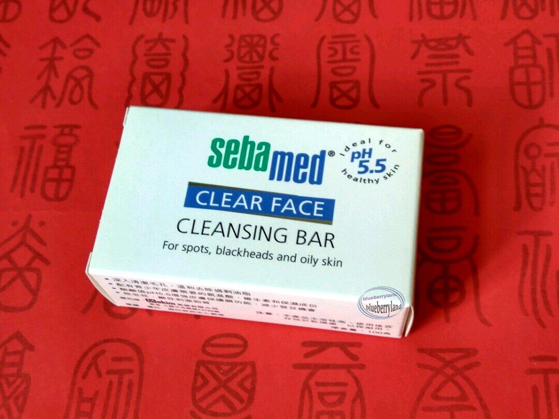Sebamed Clear Face Cleansing Bar 100g / 3.5oz + Free Gift (Shower Cap)