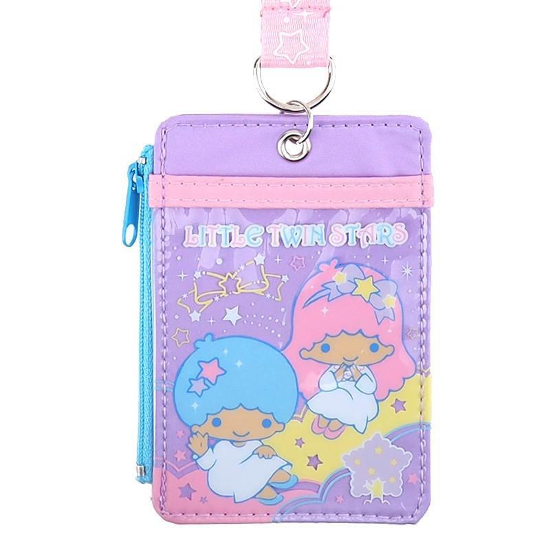 Sanrio Little Twin Stars Lanyard Tag School Work Pass ID tags Holder Q17