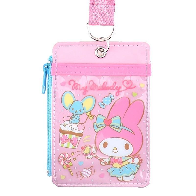 Sanrio My Melody Lanyard Tag School Work Pass ID tags Holder Q17