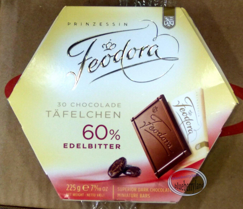 Feodora Chocolates 60% Dark Chocolate Edelbitter 225g