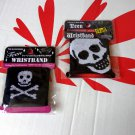 2 Pack Skull Stretchy Wristband wristbands boy girl women men