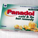 Panadol Cold & Flu Hot remedy Lemon Cough cold & Flu relief non-Drowsy