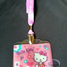 Sanrio HELLO KITTY Lanyard School Work Pass ID tag Badge Holder ladies girls