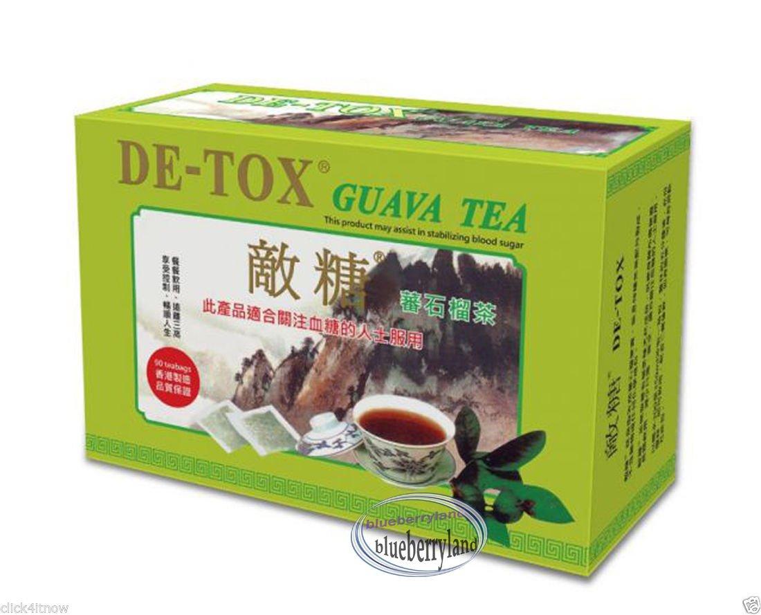 De-Tox Guava Tea 2.7g X 90 tea bags Detox Stabilize Blood Sugar Help Diabetics Lower Cholesterol
