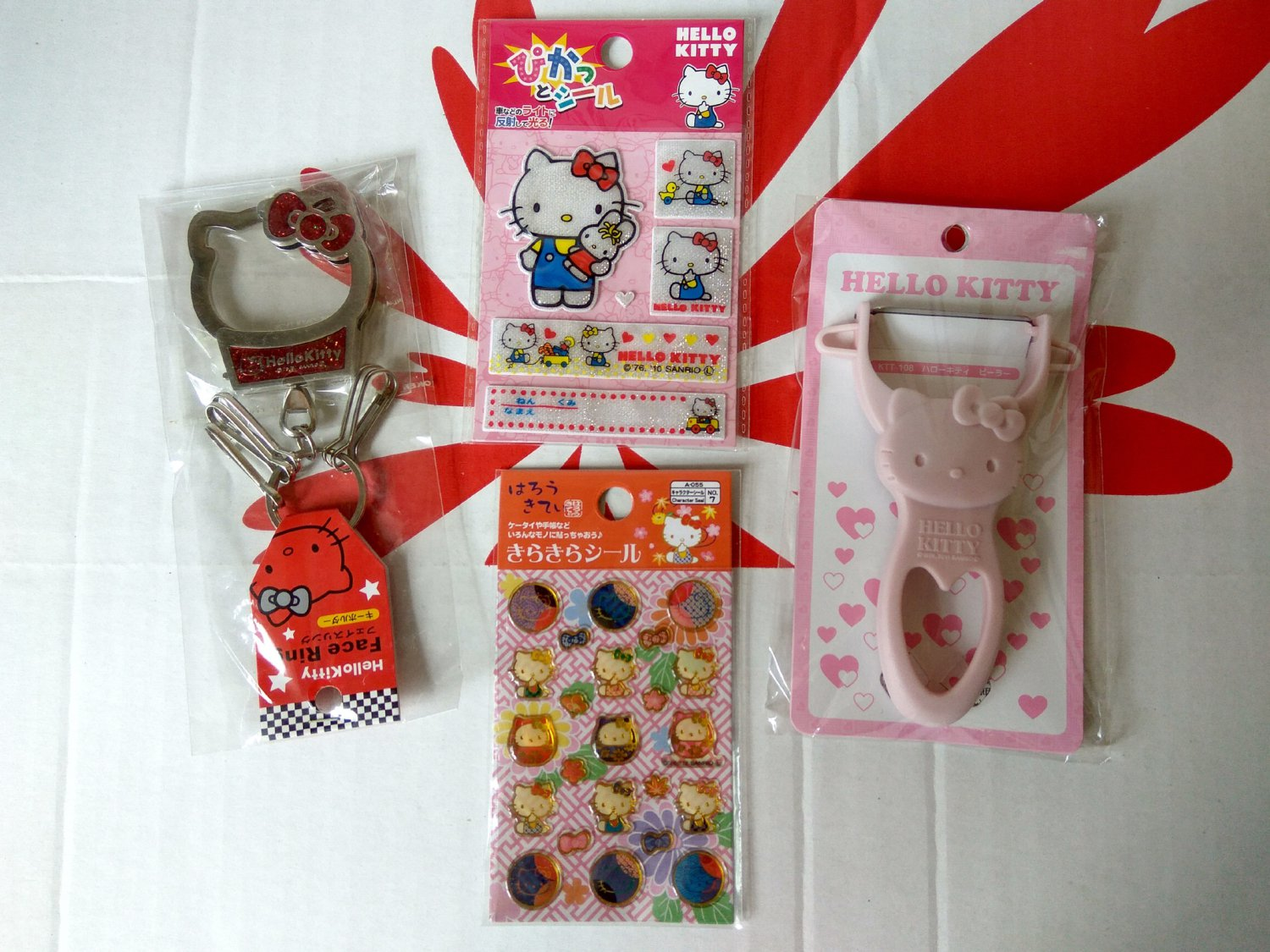 Sanrio HELLO KITTY 4 Pcs Gift Set for Christmas birthday kid girl women J