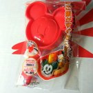 Disney Mickey Mouse Red Sushi Rice Mould Mold bento stencil Kitchen lunchbox boys girls
