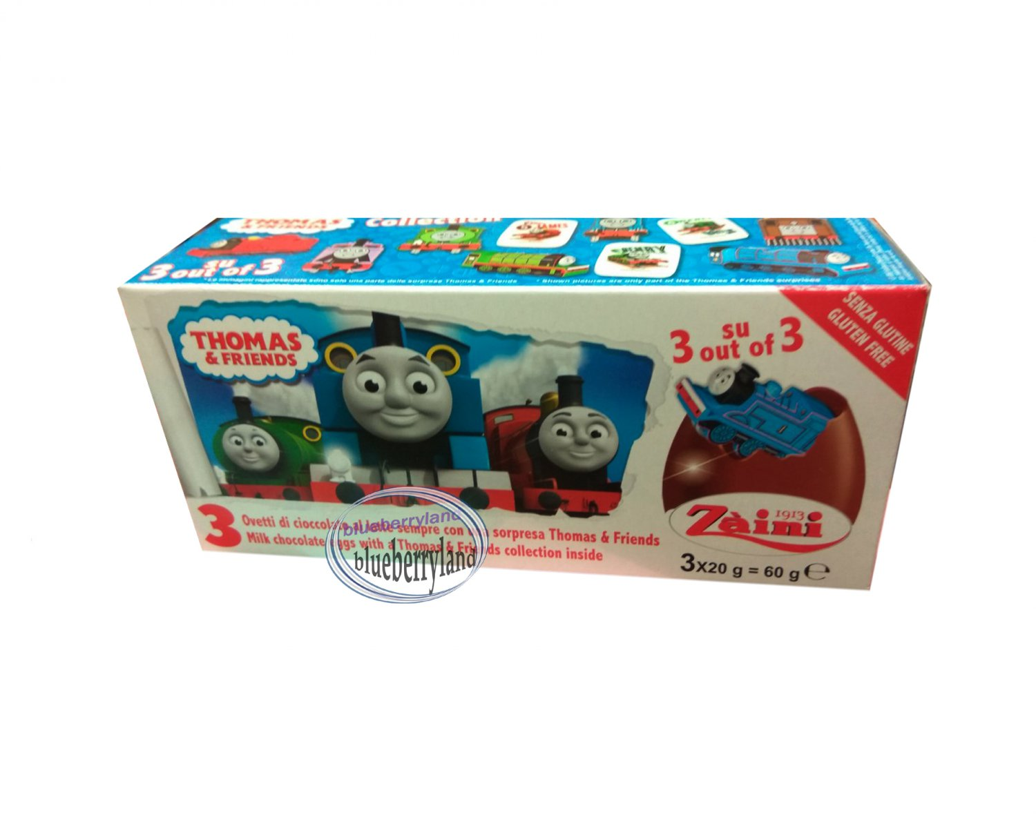 Zaini Thomas & Friends Chocolate Surprise 3 Eggs With Toy Figure Inside choco ladies kid Q7