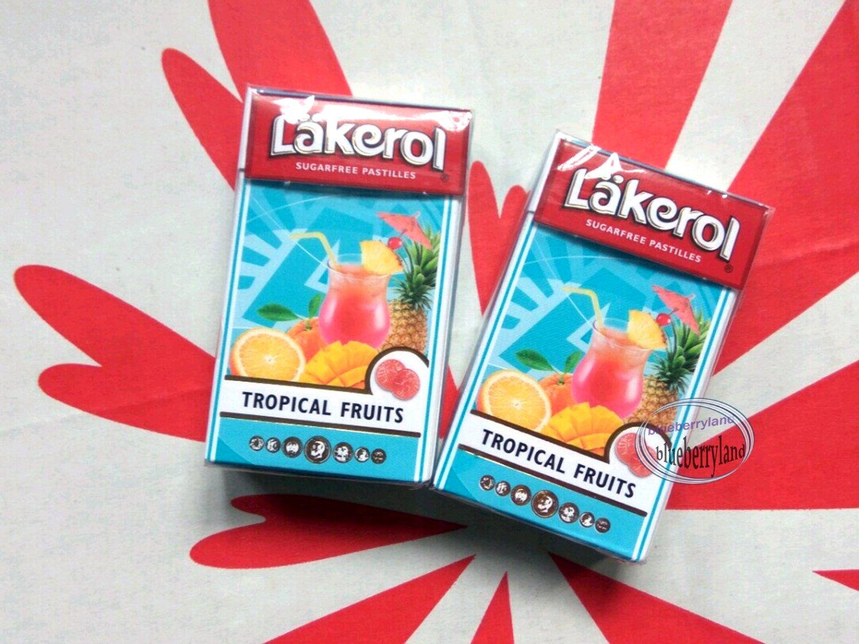 Lakerol Sugarfree Pastilles Tropical Fruits flavor 2x candies
