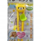 Japanese Beginner Children kid Training Learning Chopsticks Helper Bear cutlery