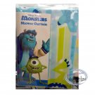 Disney Pixar Monsters SHOWER CURTAIN bathroom accessories ring household Q17