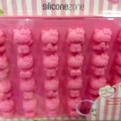 Sanrio HELLO KITTY 24 Pcs Full Body SILICON Chocolate Mold ice jelly Mould PINK