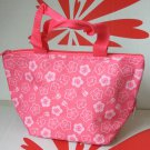 Lunch Box Cooler Warmer Flower Bag Pink Food Container work school A1