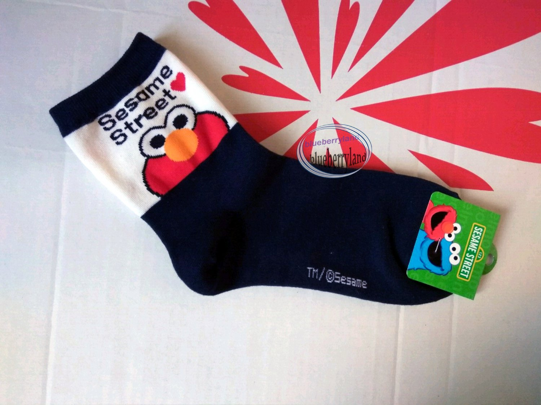 Sesame Street ELMO Sock ladies girls Socks 22 - 26cm Crew sock