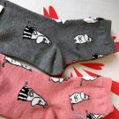 Moomin Socks set ladies girls 22 - 26 cm Women's Crew sock 2 pairs pink & Grey