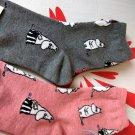 Moomin Socks set ladies girls 22 - 26 cm Women's Crew sock 2 pairs pink & Grey