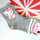 Sanrio Hello Kitty Socks set ladies girls Women's crew Sock 22 - 26cm  grey