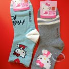 Sanrio Hello Kitty Socks set ladies girls Women's crew Sock 22 - 26cm  blue & grey
