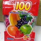 Cocoaland Lot 100 Assorted Fruit Gummy Candy 150g snack