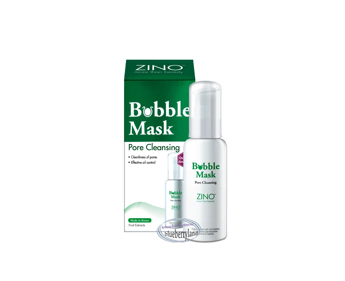 ZINO Bubble Mask Pore Cleansing 50ml skin care face cleanser beauty ladies girls
