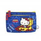 Sanrio Hello Kitty Zipper Pouch bag Blue 2 zipper slip bags case ladies girls