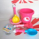 Sanrio Hello Kitty Beach Toys Set with Large Bucket, Rake, Shovels & more child Toys Girls kids