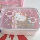 Sanrio Hello Kitty Microwave Bento Lunchbox Food Container with a Cooler Bag  Pink
